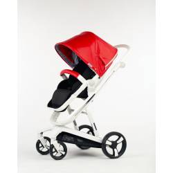 Детская коляска Babylux Strollers Future I-S035 (WHITE frame / PU Leather)